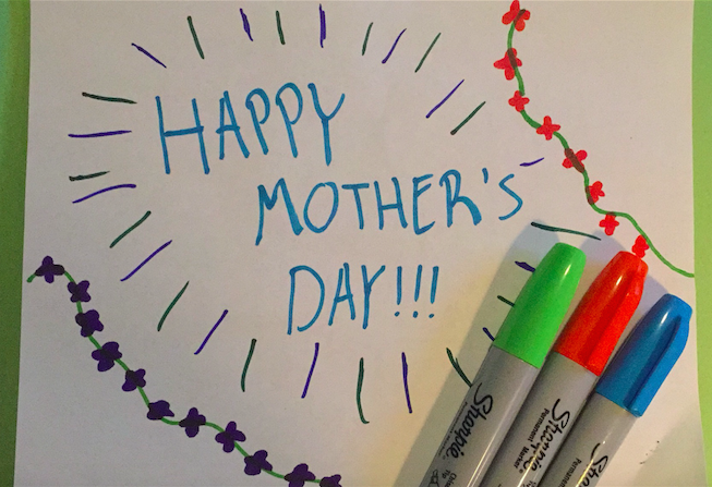 Make sure to make this Mother's Day extra special by making a handmade card to go along with your Mother's Day meal!