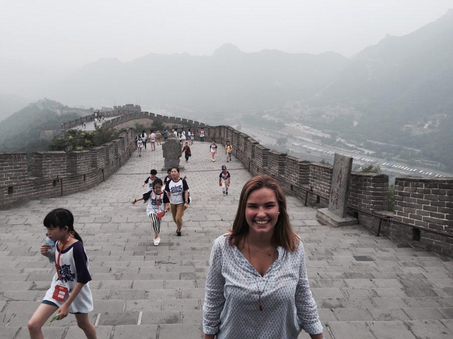 Junior Adriana Baumann, strolling through the Great Wall of China.