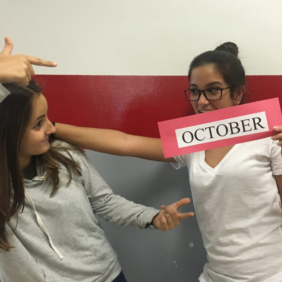 Juniors Gabriela Morales and Marta D'Ocon are awfully excited for October!