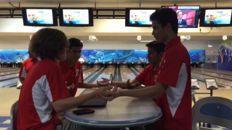 The Cavalier bowling team does pregame prep.