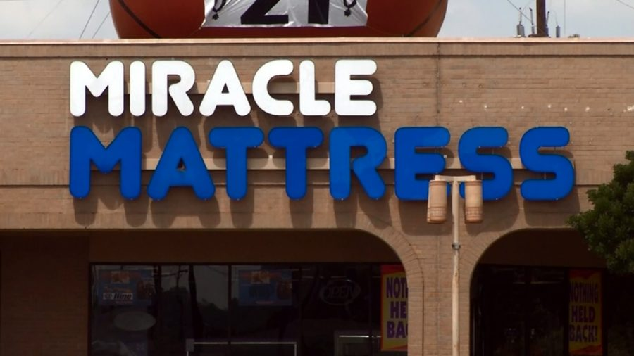 Miracle Mattress store in San Antonio holds 9/11 sale.