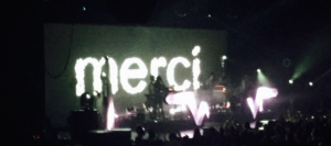 Stromae thanks everyone who came to his concert in French.