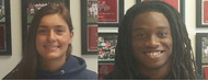 Seniors Hannah Cordes and Jamar Thompkins are Athletes of the Week after leading their teams to sweet victory.