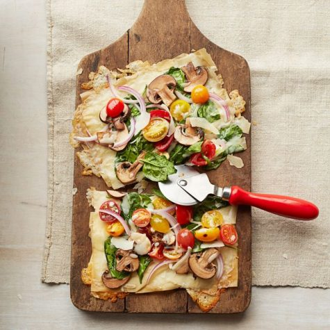 Adding vegetables to this pizza does not only make it look nice but taste great as well!