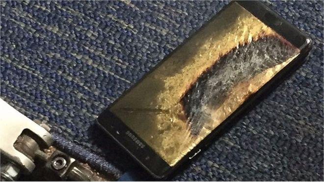 Se están prendiendo fuego los nuevos teléfonos Samsung.