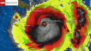 Many took to social media and said this satellite image of Hurricane Matthew resembled a skull.