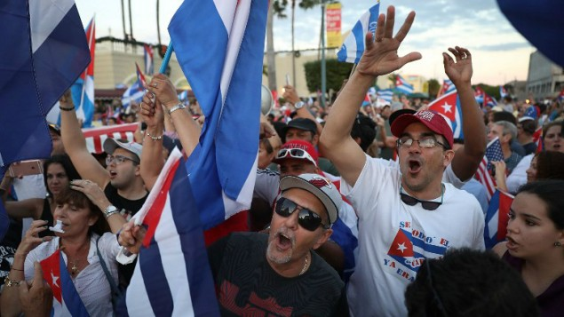 Fidel Castro died on Nov. 25 at the age of 90. Cubans in Miami went out to celebrate.