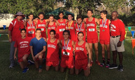 The boys at the regional championship meet after they qualified for the state championship.