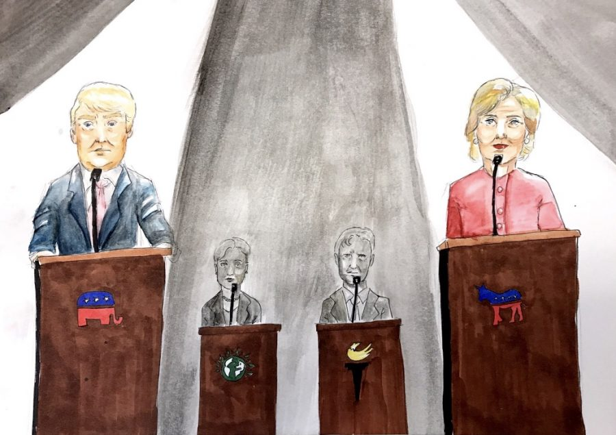 Third party candidates are often left in the shadows of the primary party candidates.