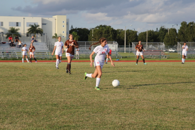Lady Cavs Soccer Plays South Miami Cobras