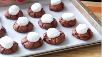 Hot chocolate cookies provide an interesting twist on a classic drink.