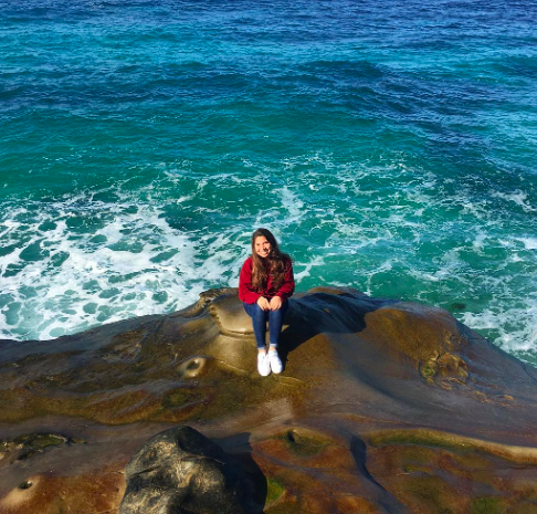 Sophomore Angelle Garcia enjoys the California Coast during winter break.