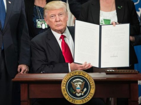 Donald Trump signed over 12 executive orders in his first week as President.