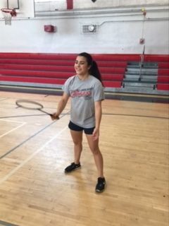 This week's athlete of the week is badminton player Summer Campagna.
