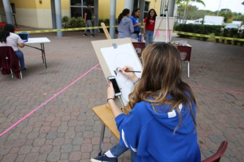 Art students share their talents with the rest of the school!
