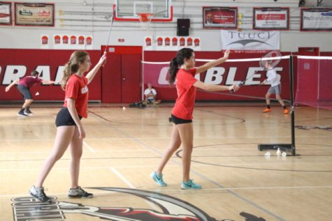 Gables Badminton Goes Against Miami Springs