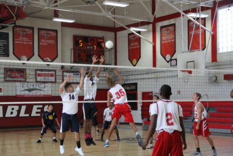 Gables' Volleyball Goes Head-to-Head Against Columbus