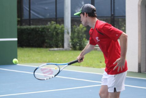 Gables Tennis Against Miami High