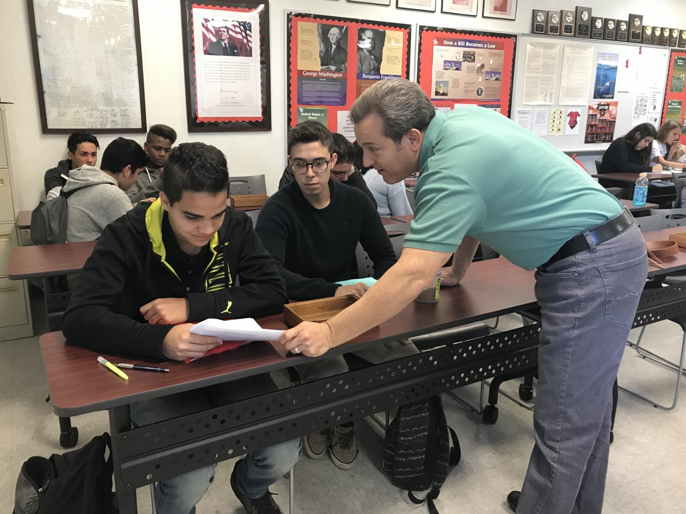 Mr. Garcia teaches students the intricacies of the Law.