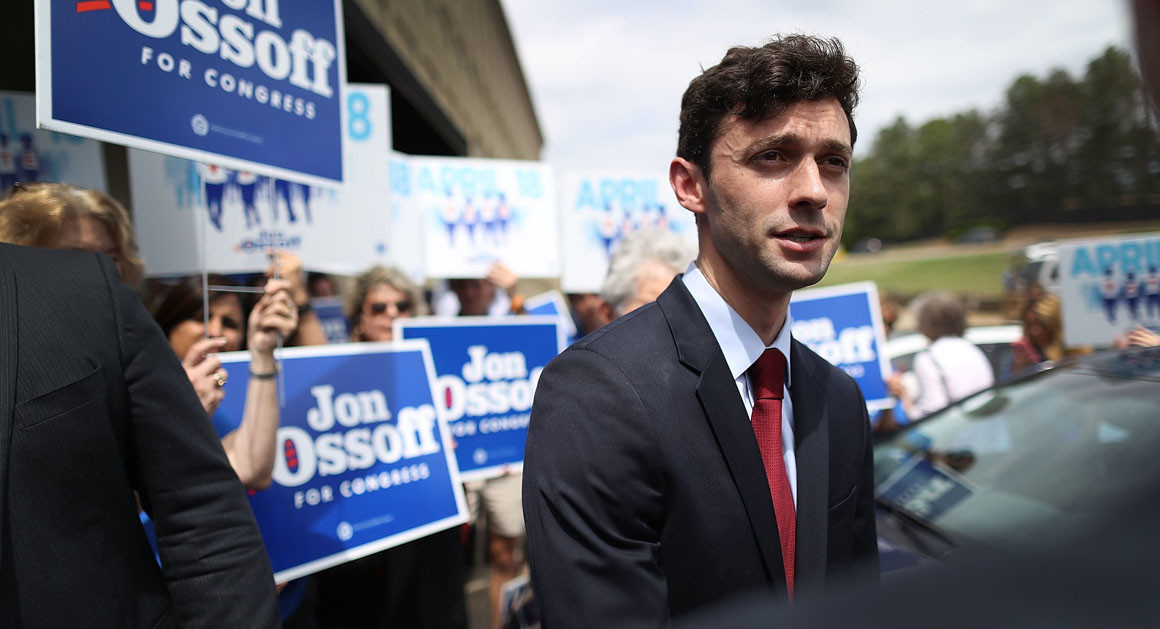Jon Ossoff's Congressional campaign may lead to a Democratic upset in a historically Republican district.