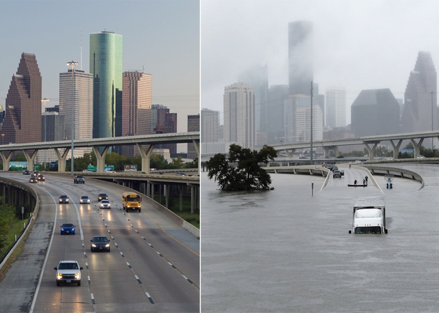 Houston Antes y Después de Harvey