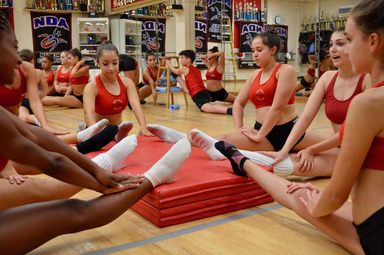 The Gablettes stretching