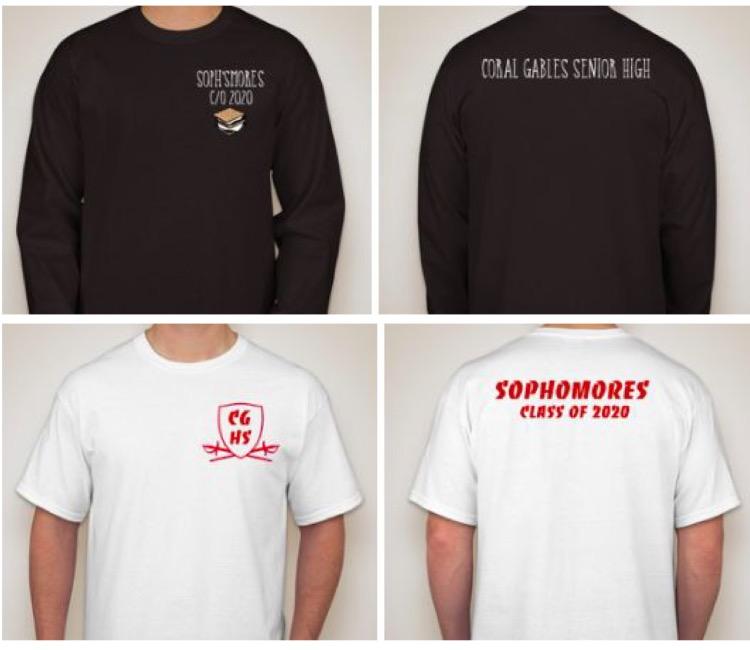 Class of 2020 Class Shirt choices