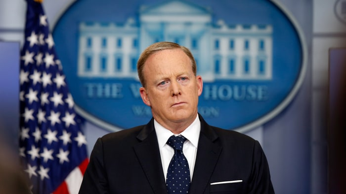 Sean Spicer resigns as White House Press Secretary following Anthony Scaramucci's appointment as communications director.