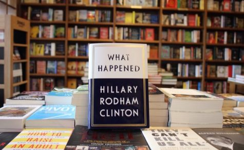 Clinton's new book What Happened? Available now in stores.