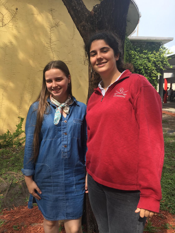 Yanik Ariste (left) and Leila Iskandarani (right) are proud National Merit Semifinalists
