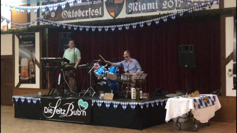 A live band from Germany performing at Oktoberfest.