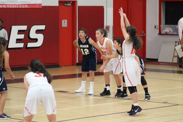 JV Lady Cavalier Basketball Takes A Win Against Reagan
