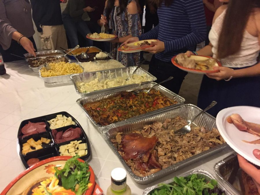 No Hispanic holiday goes celebrated without ones large family and great food.
