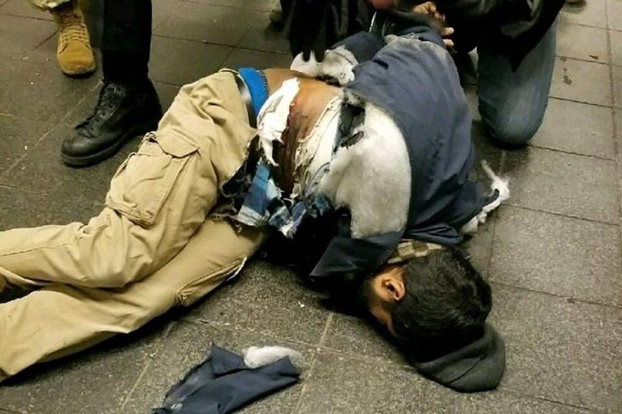 Akayed Ullah después de haber detonado la bomba.