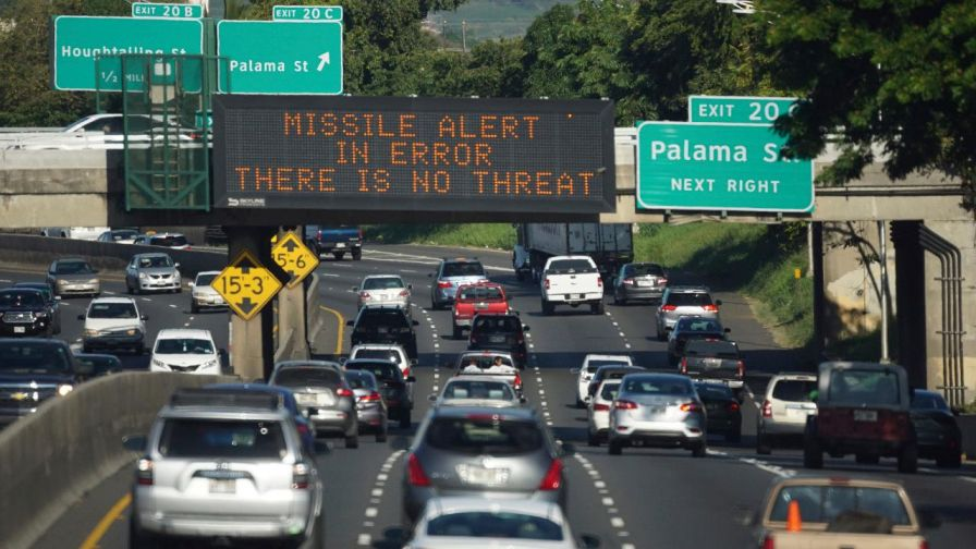 False missile threat alarm causes panic in Hawaii.