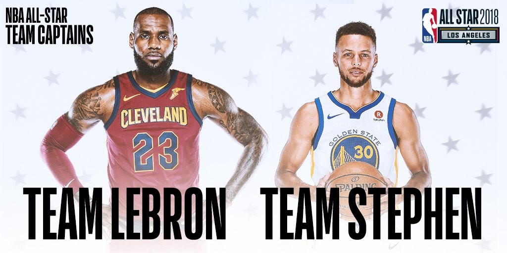 LeBron James and Stephen Curry will take their drafted teams in a head-to-head battle during the NBA All-Star Game on February, 18.
