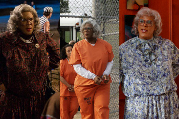 Snapshots of Madea in different movies