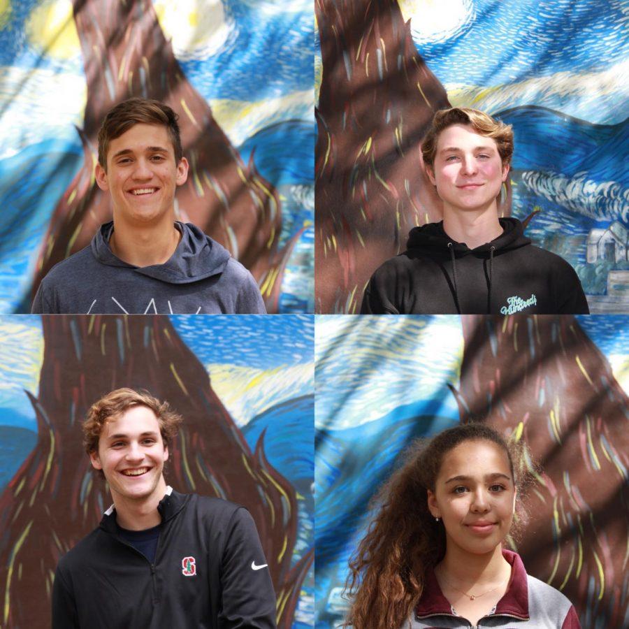 Presidentes de Coral Gables High Thomas Harley, Alfredo Wolfermann, Cameron Payne y Irene Martinez.