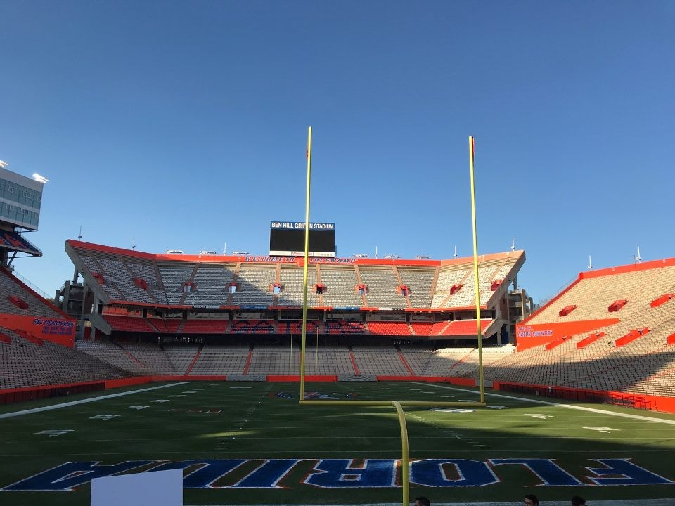 The+view+seen+from+the+stands+of+The+Swamp%2C+UF%27s+football+field.