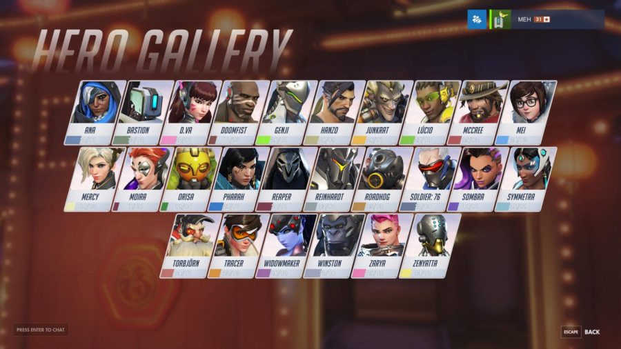 A+display+of+all+the+heroes+in+%22Overwatch.%22