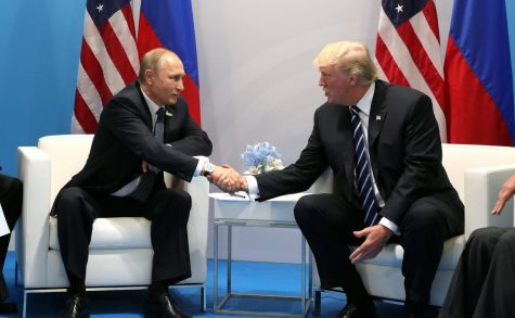 President Trump assuring Russian President Vladimir Putin that he can continue hacking the US government (probably).
