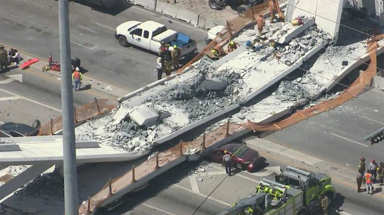 Collapse of Pedestrian Bridge at FIU leaves Miamians Shocked and Grieving