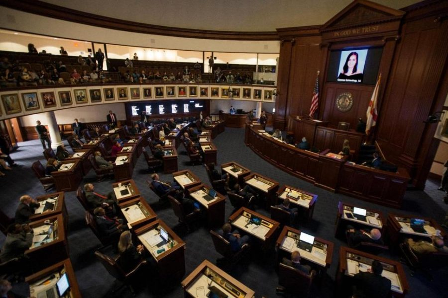 The Florida Senate Chamber in session.