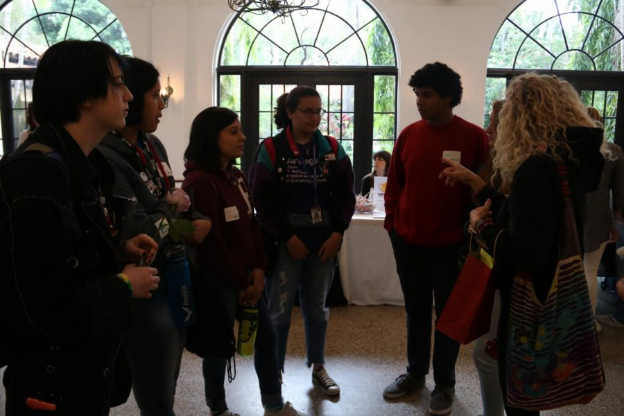 Students from Gables High gather to talk about their experiences so far at Diversity Day 2018.