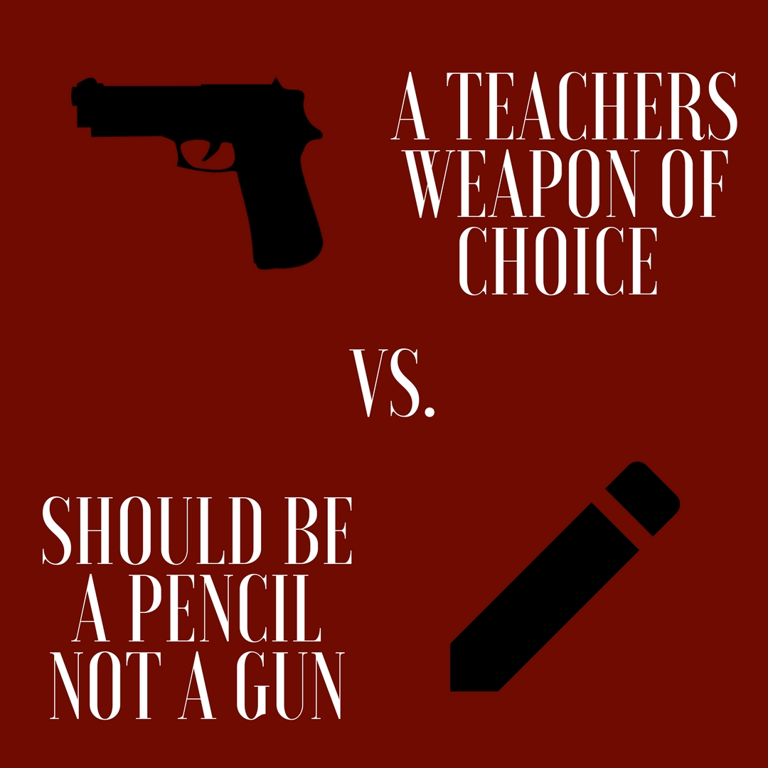 It is a popular dispute, leading as a national trend, to worry about gun safety. Many wonder if it would be better to give teachers firearms to defend students in an emergency, or if to just let them teach.
