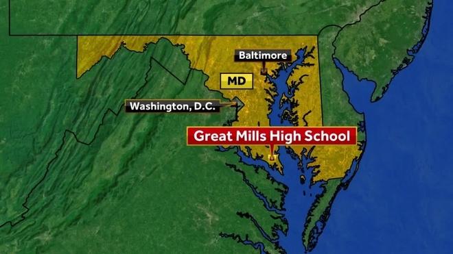 Great Mills High School, donde se tomo acabo la tragedia.