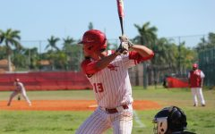 A Cavalier hitter loads his swing in preparation for the upcoming pitch.