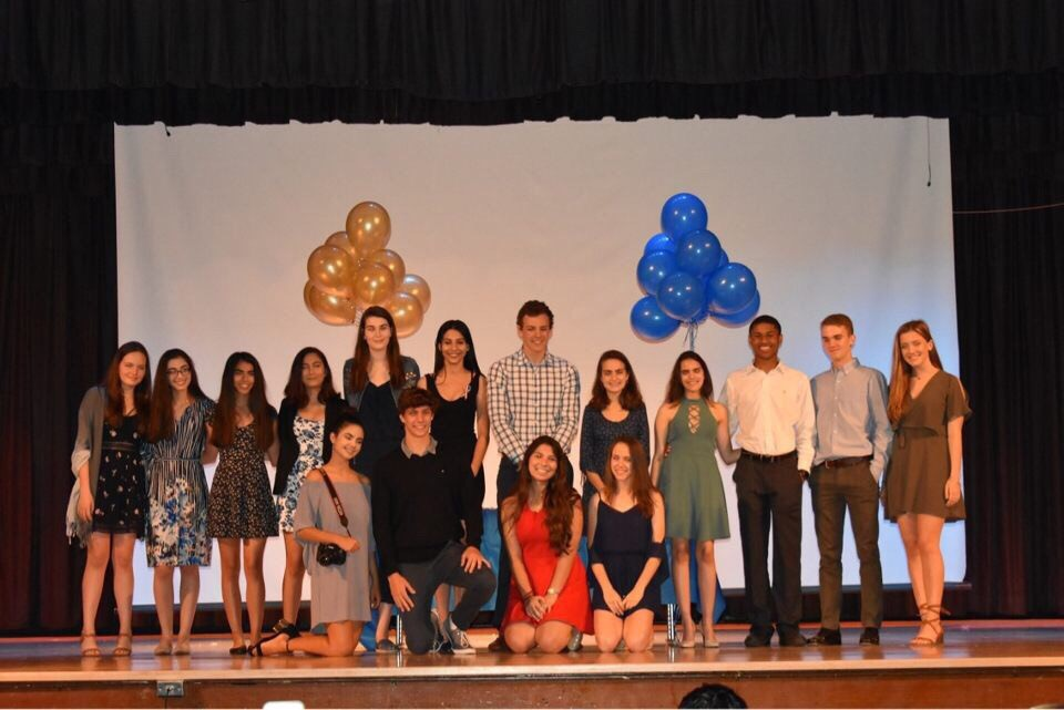 The NHS board was announced in the auditorium after the induction ceremony.