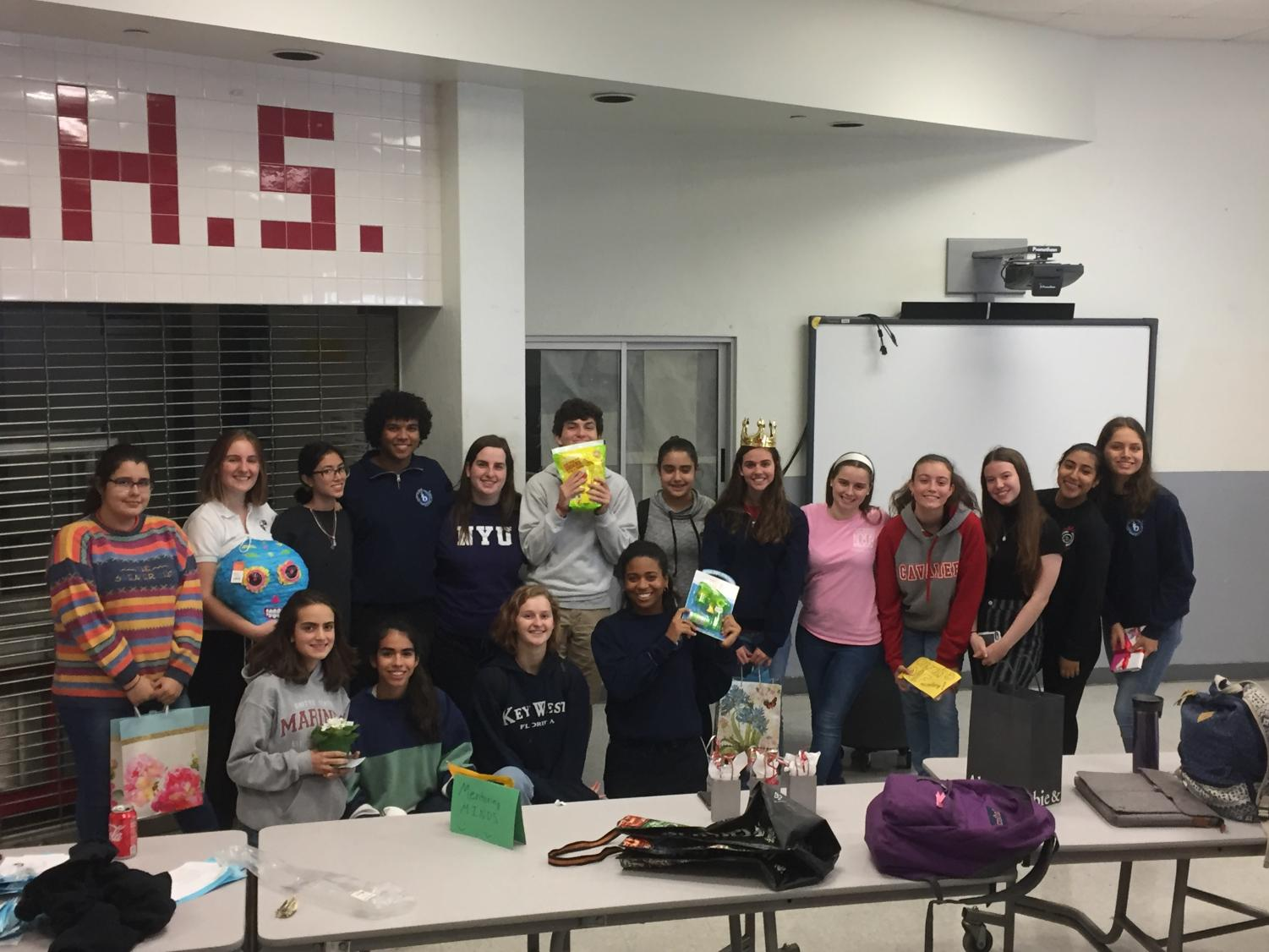 The new IBHS stands together for a picture after exchanging gifts!