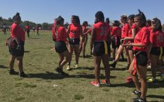 Girls Flag Football Team Loses Last Home Game